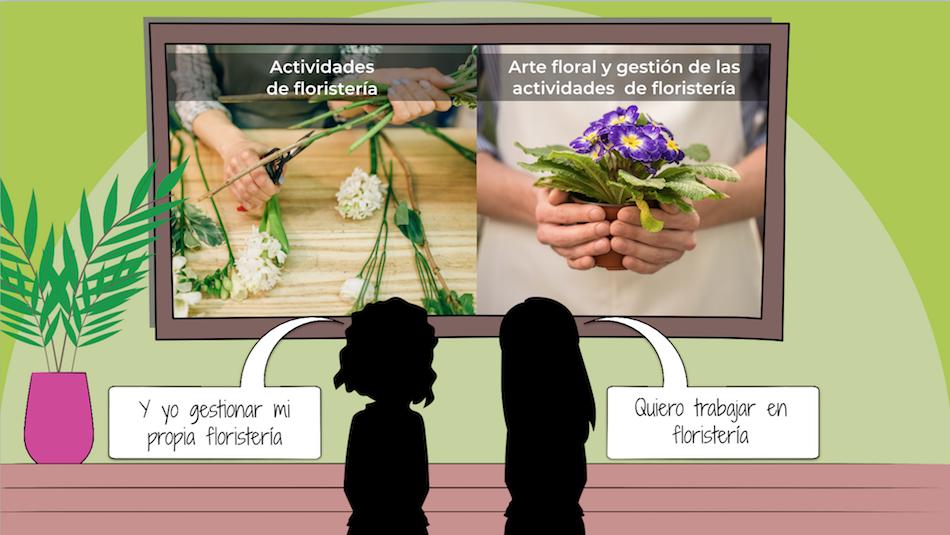 Formación en actividades relacionadas con la floristería
